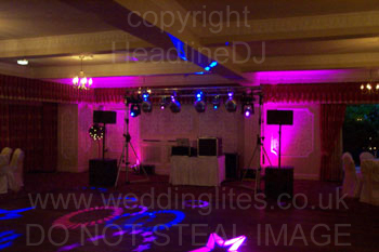 Rear uplighting at The Deanwater hotel, Woodford near Wilmslow