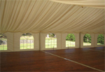 Marquees offer a blank canvas for colour use